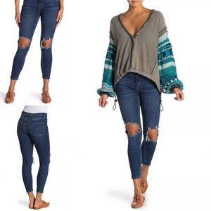 FREE PEOPLE | Distressed Skinny Jean, Size 26